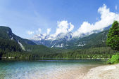 Lake Tovel, South Tyrol, Italy — Foto Stock