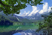 Lake Tovel, South Tyrol, Italy — Foto de Stock