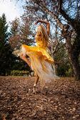 Ballerina Outside — Stockfoto