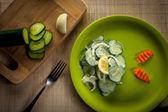 Salad Of Cucumbers — Stock Photo