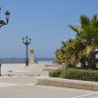 Promenade beach in Cadiz — Stock Photo