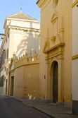 Krásné ulice v seville — Stock fotografie