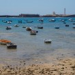 Boats in a beach — Stock Photo