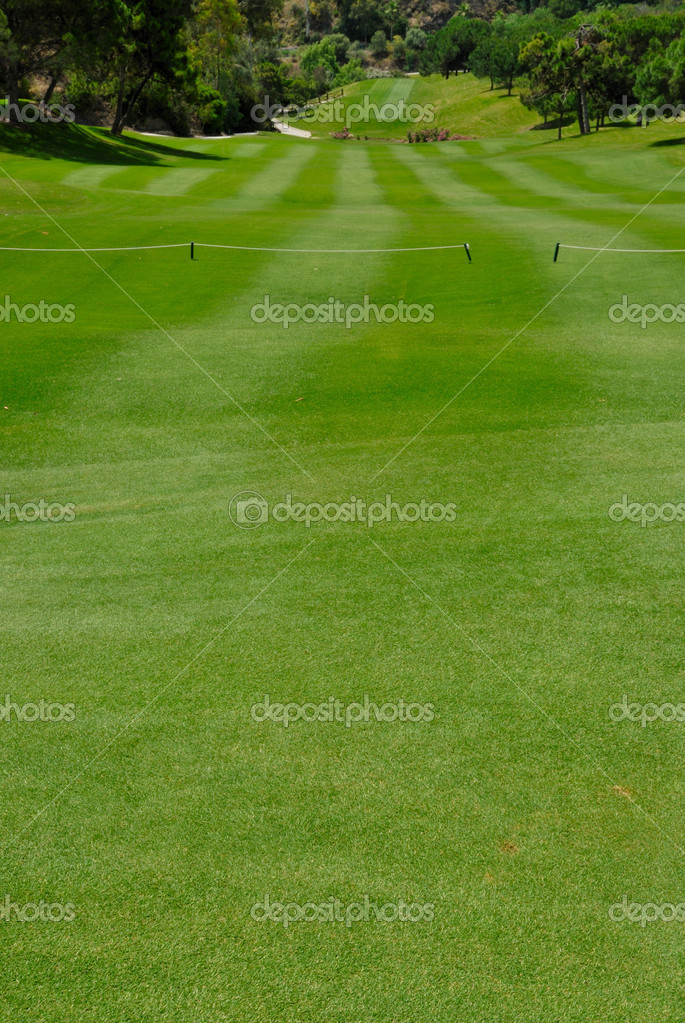Long fairway in  golf course in Marbella, Spain. — Stock Photo #16788953