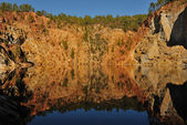 Iron mine rock — Stock Photo
