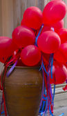 Red ballons — Stock Photo