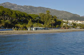 Marbella kustlijn — Stockfoto