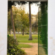 Stock Photo: Gate in garden