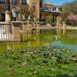 Pond in front of Mudejar pavilion, Seville, Spain — Stock Photo