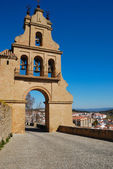 Path to the church in Aracena, Andalusia, Spain — Stock Photo