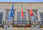 Detail of the Town hall in Cascais — Stock Photo