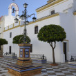Square in a Seville village — Stock Photo