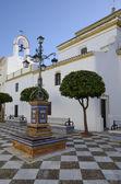 Square in a Seville village — Stock Photo