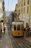 Yellow tram — Stock Photo