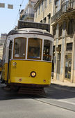 Line 28 Lisbon tramway — Stock Photo
