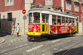 Tram by the Lisbon street — Stock Photo