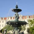 Fountain in Rossio Square — Stock Photo