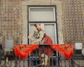 Decorated balcony — Zdjęcie stockowe