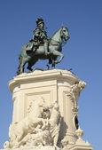 Equestrian statue — Stock Photo