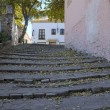 Cobblestone stairs — Stock Photo