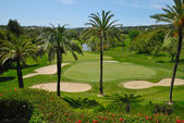 Golf course in Marbella Golf valley — Stock Photo