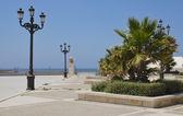 Spiaggia del lungomare di cadice — Foto Stock