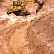 Stockfoto: Career dredge at sand quarry