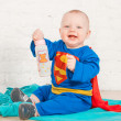 Super baby - Stock Photo