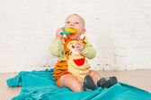 A baby in Tiger suit — Photo
