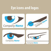 Eye icons and logos — Stock Vector