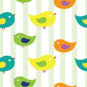 Baby birds with strips — Stock Vector