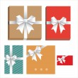 Vector gift wrapping collection — Stock Vector