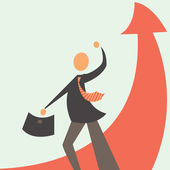 Successful development in business — Stock Vector