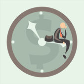 Time against business — Stock Vector