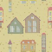 Geometrical city seamless pattern — Stock Vector
