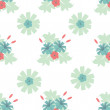 Seamless floral pattern - Stockvectorbeeld