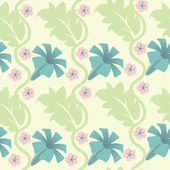 Seamless abstract pattern with flowers — Stock Vector