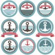 Stock Vector: Nautical Icon Set