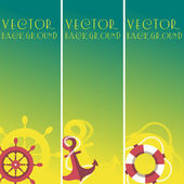 Banner vertical do mar — Vetor de Stock