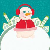 главная фон с снеговика — Стоковое фото
