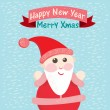 Funny Christmas postcard with Santa Claus. Vector illustration — Stock Vector