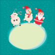 Christmas and New Year Greeting card, — 图库照片