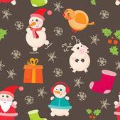 Sömlös bakgrund, jul och nyår — Stockfoto