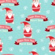 Christmas and New Year seamless background with Santa Claus — Imagens vectoriais em stock