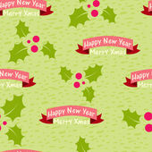 Christmas and New Year seamless background with the words — Stock Vector