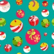 Colorful flat christmas seamless background — Stock Photo