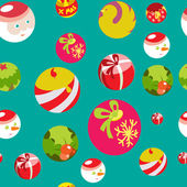 Colorful flat christmas seamless background — Stock Vector
