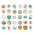 Stock Vector: Application Web Icons in Flat Design