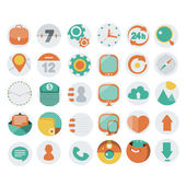 Application Web Icons in Flat Design — Stock Vector