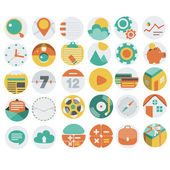 Application Web Icons in Flat Design 3 — Stock Vector